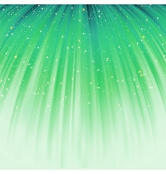 Festive green abstract with stars EPS 8 vector image