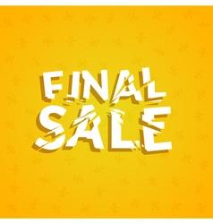 Final Sale poster design template Promotion vector