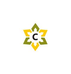 Flower infinity letter c vector
