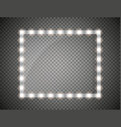 glass frame with lights isolated vector image