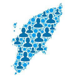Greek rhodes island map population demographics vector