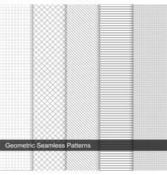 Grid geometric patterns vector
