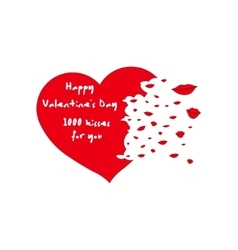 Happy Valentine s Day Greeting Card vector