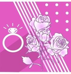 High quality rose and ring vector image