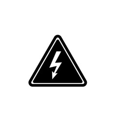 high voltage attention electric danger flat vector image