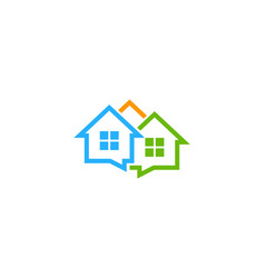 home chat logo icon design vector image