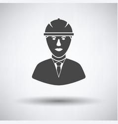 Icon of construction worker head in helmet vector