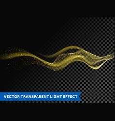 light line gold swirl effect glitter fire vector image
