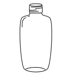 Line long mason jar preserve art vector