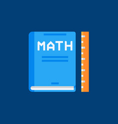 Mathematics book flat icon math book sign vector