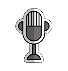 Microphone device isolated icon vector