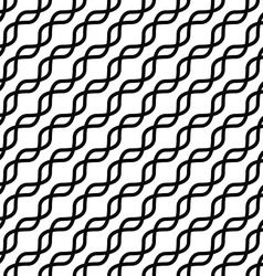 Monochromatic seamless curved line pattern design vector