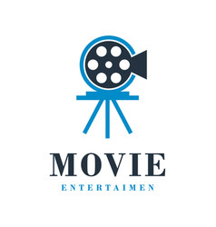 Movie logo design vector