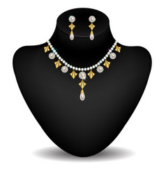 necklace on the dummy vector image