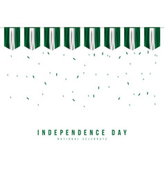 Nigeria independence day template design vector