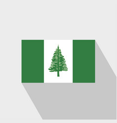 Njorfolk island flag long shadow design vector