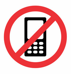 no mobile phone icon vector image
