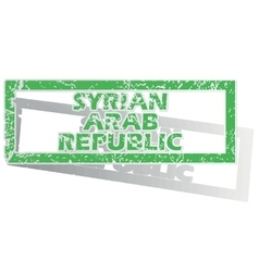 Outlined Syrian Arab Republic stamp vector