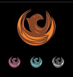 Phoenix logo design new year 2019 vector