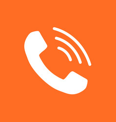 Phone icon contact support service sign on vector