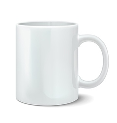 Photorealistic white cup vector