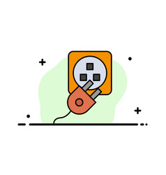 Plug electric electric cord charge business flat vector