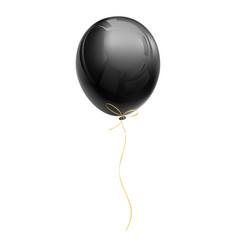 realistic black air balloon vector image