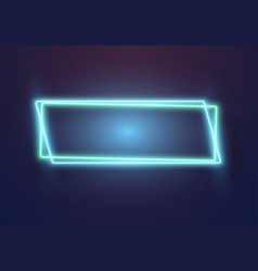realistic neon sign icon vector image
