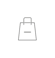 remove from shopping bag icon vector image vector image