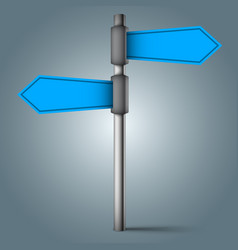 road sign - four blue arrows vector image