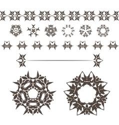 Set of abstract floral and circular vector
