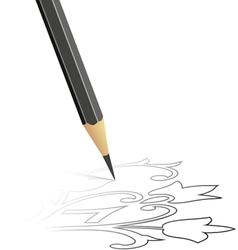 Sketch drawn a pencil vector
