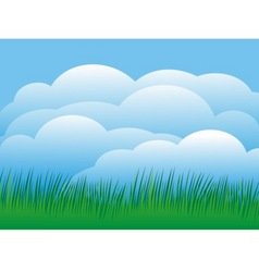 sky with grass vector image