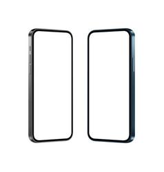 Smartphones blue and black mockups vector