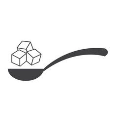 sugar icon vector image