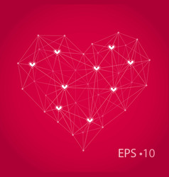 technology network design heart vector image