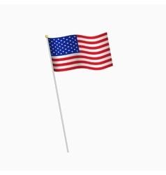 united states america flag on white background vector image