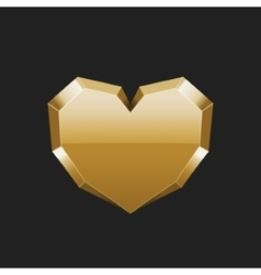 Valentines Day Greeting Card or Poster 3d Gold vector