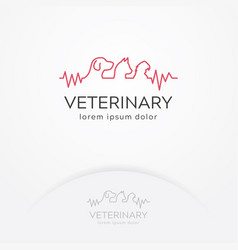 veterinary center logo vector image