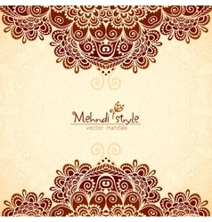 Vintage flowers ethnic background in indian vector