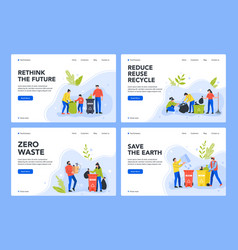 waste separation and recycle environment care vector image