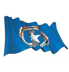 Waving flag northern mariana islands vector