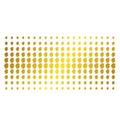 woman profile golden halftone matrix vector image