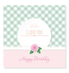 birthday greeting card template round frame on vector image vector image