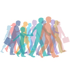 colorful crowd of people vector image vector image