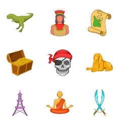 epoch icons set cartoon style vector image vector image