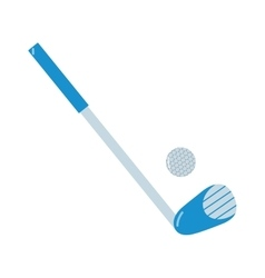 Golf putter and golf ball on white vector image vector image