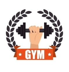 gym badge sport label design vector image