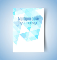 multipurpose layout design 11 vector image vector image