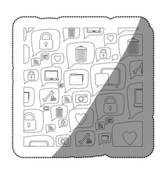 Sticker silhouette pattern formed by dialogue vector